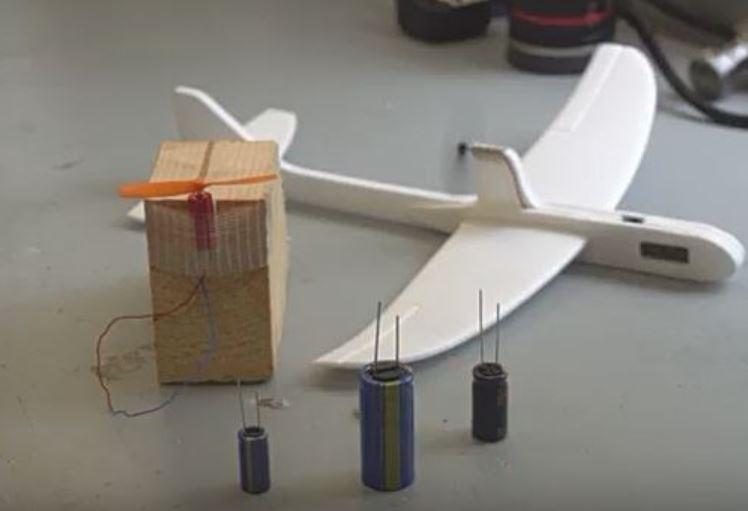 Supercapacitor Rocket made with Hy-Cap 3V